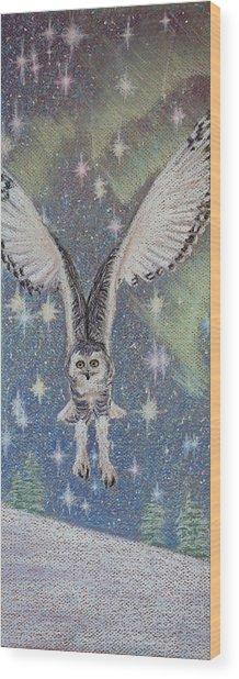 Celestial Swoop Wood Print by Thomas Maynard