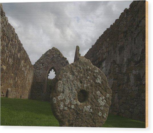 Celtic Cross Wood Print by Paul Chestnutt