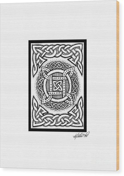 Celtic Four Square Circle Wood Print