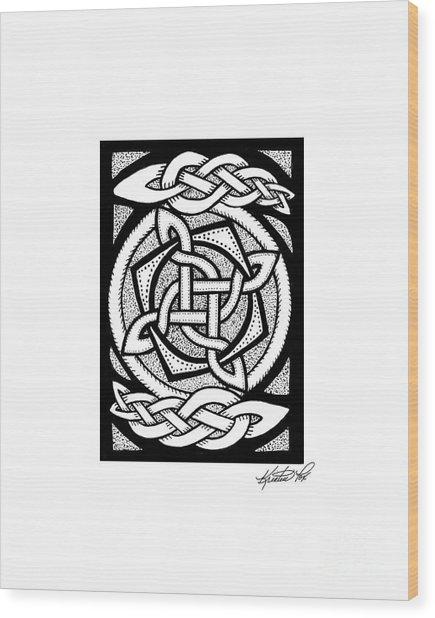 Celtic Knotwork Rotation Wood Print