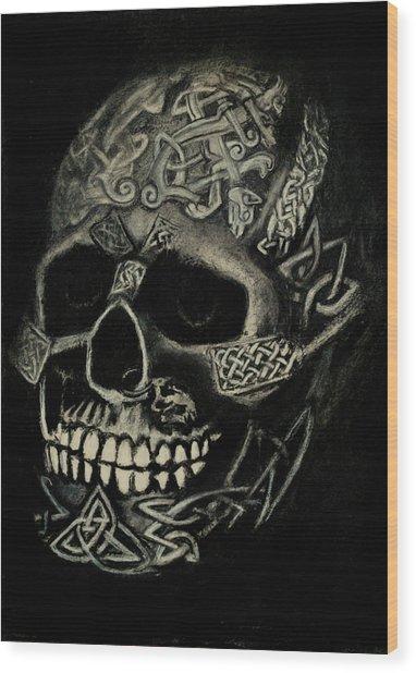 Celtic Skull Wood Print