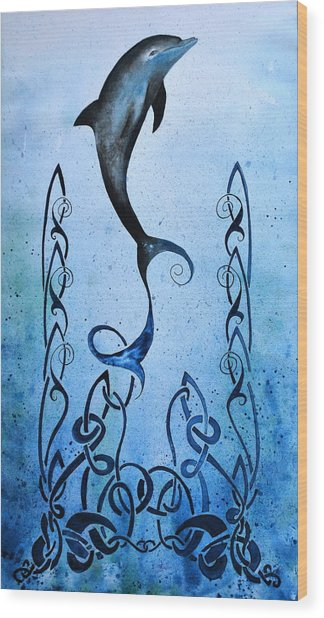 Celtic Water Wood Print
