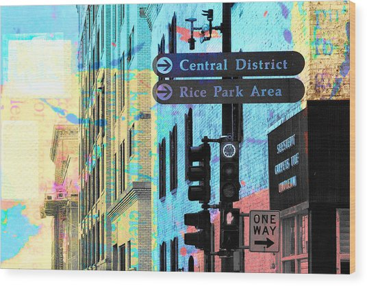 Central District Wood Print