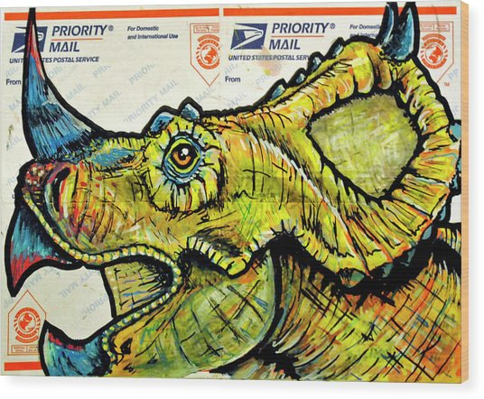 Centrosaurus Wood Print