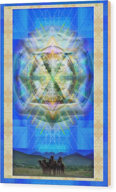 Chalice Star Over Three Kings Holiday Card Xbbrtii Wood Print