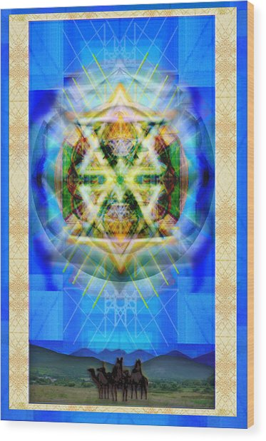 Chalice Star Over Three Kings Holiday Card Xbbrtiii Wood Print