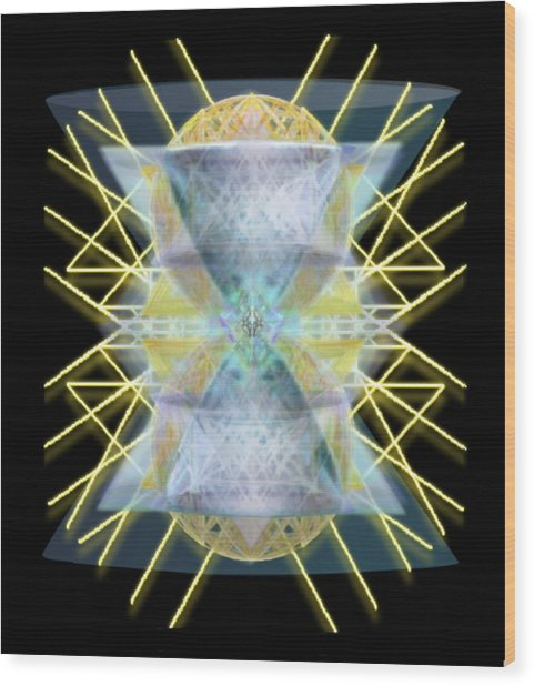 Chalices From Pi Sphere Goldenray II Wood Print
