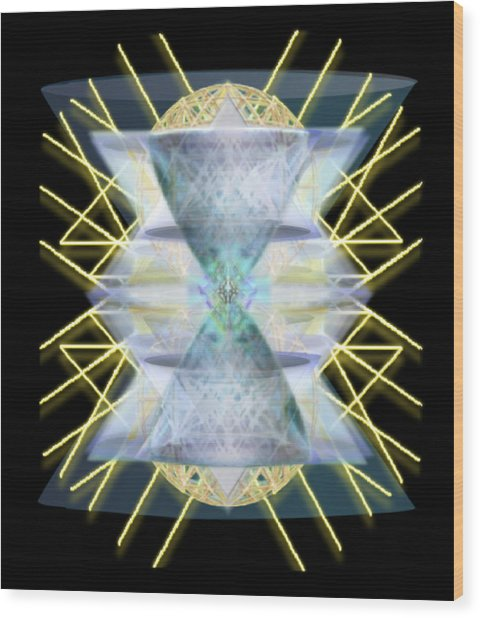 Chalices From Pi Sphere Goldenray IIi Wood Print