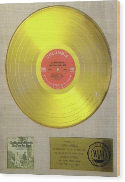 Chambers Brothers Gold Record Wood Print