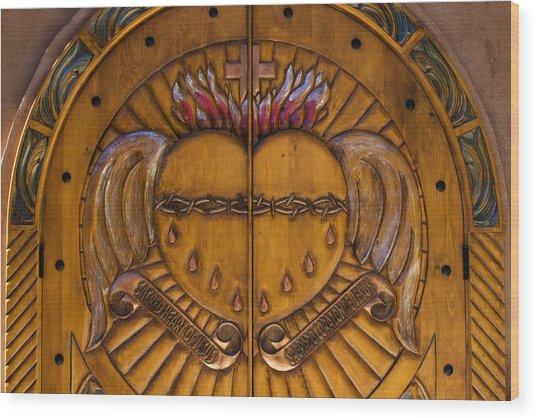 Chapel Doors Wood Print