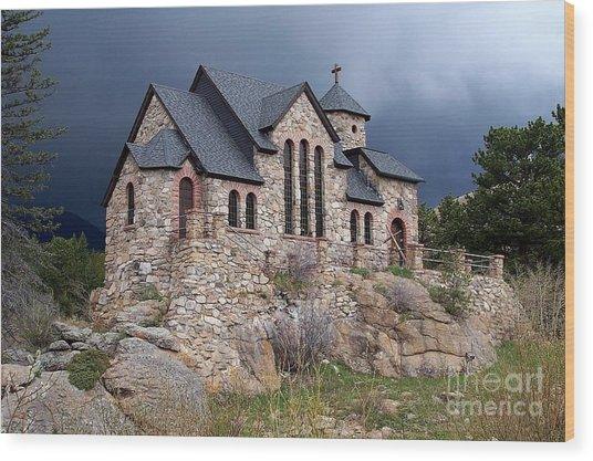 Chapel On The Rocks No. 1 Wood Print