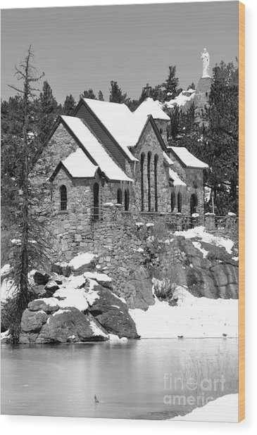 Chapel On The Rocks No. 2 Wood Print