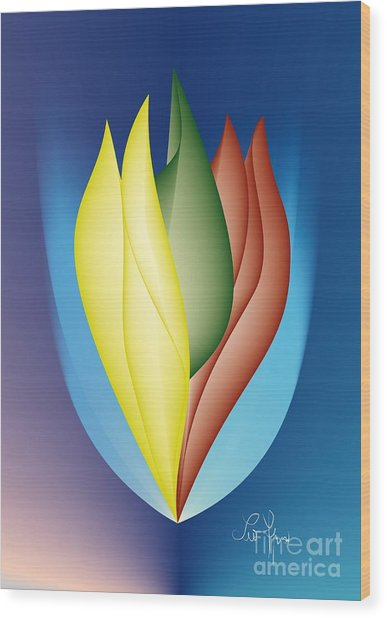Charisma Wood Print by Leo Symon