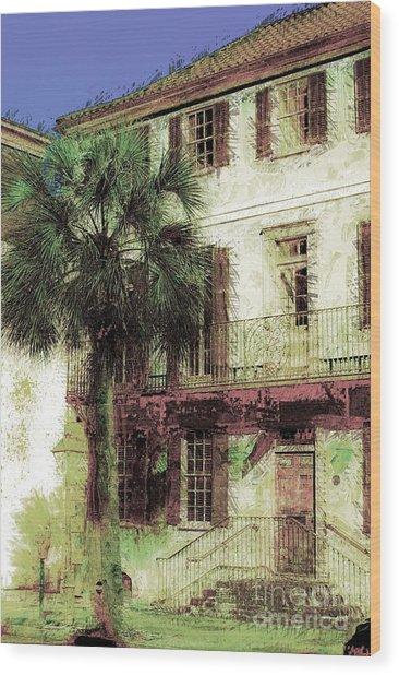 Charleston Homes Wood Print