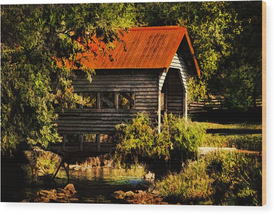 Charming Covered Bridge  Wood Print by Trudy Wilkerson