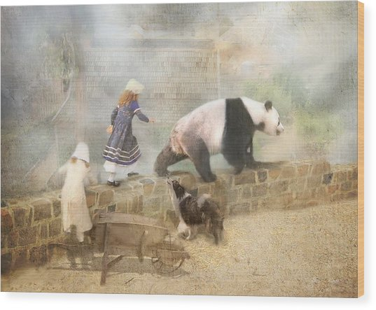 Chasing Childhood Dreams Wood Print by Trudi Simmonds