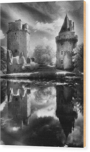 Chateau De Largoet Wood Print