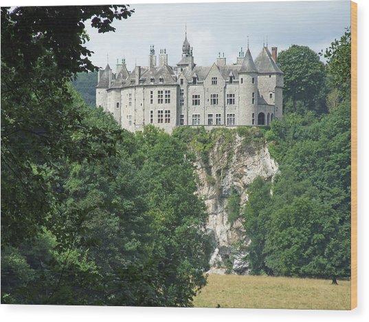 Chateau De Walzin Wood Print