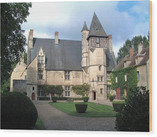 Chateau Villamenant France Wood Print