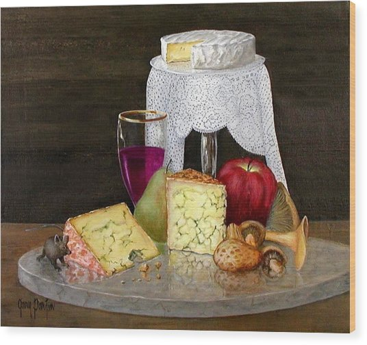 Cheese Delight Wood Print