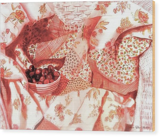 Cherries Jubilee Wood Print