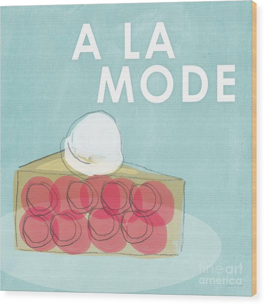Cherry Pie A La Mode Wood Print