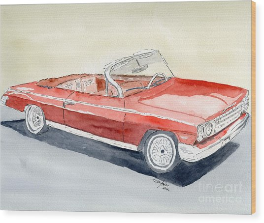 Chevrolet 62 Impala Wood Print
