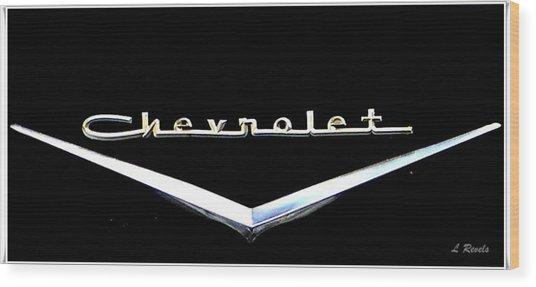 Chevrolet Logo Wood Print by Leslie Revels