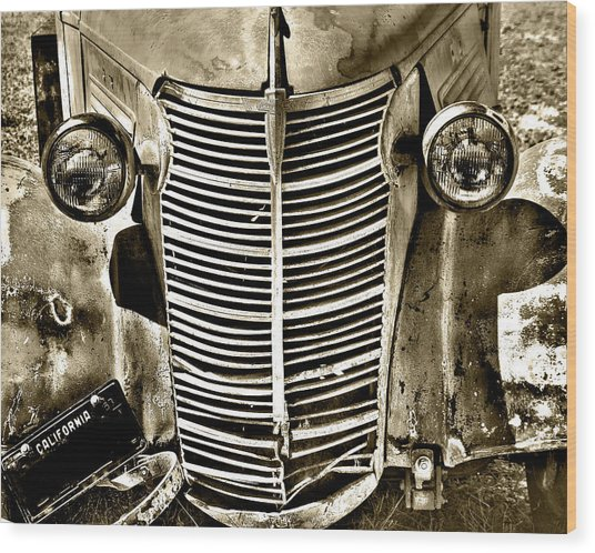 Chevy Grill Work Wood Print
