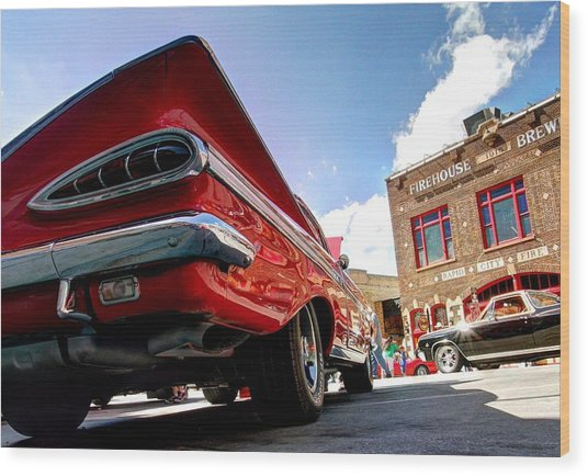 Chevy Town Wood Print