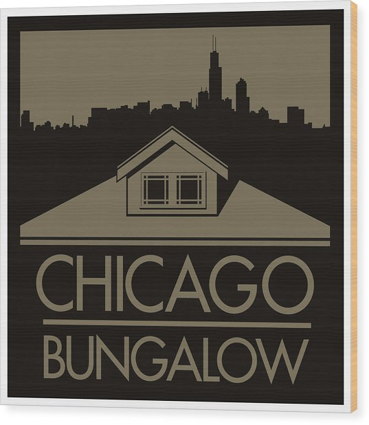 Chicago Bungalow Wood Print