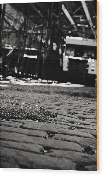 Chicago Cobblestone Wood Print