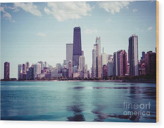 Chicago Instagram High Resolution Picture Wood Print