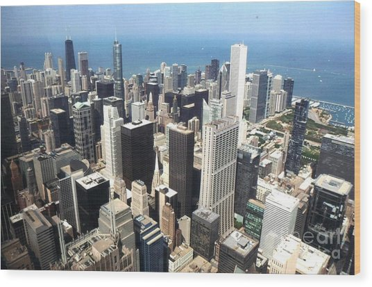 Chicago One Afternoon Wood Print