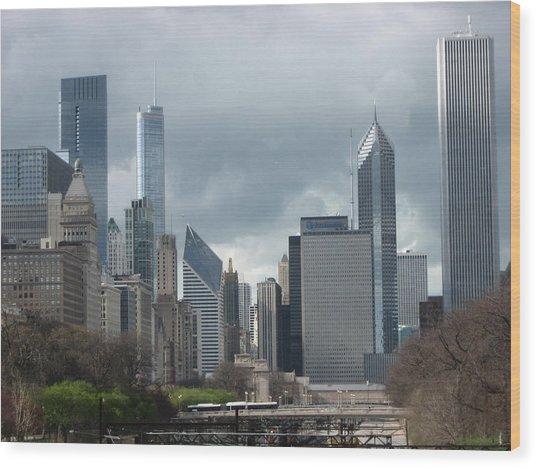 Chicago Skyline 1 Wood Print