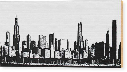 Chicago Skyline Wood Print by Matthew Formeller