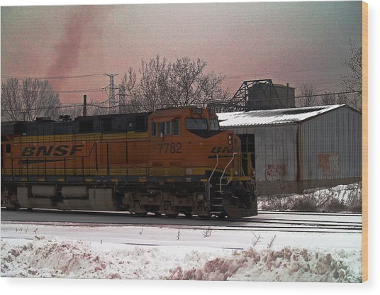 Chicago Train Wood Print