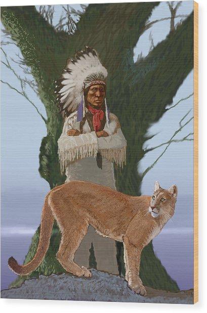 Chief Abraham Wood Print by Robert Bissett