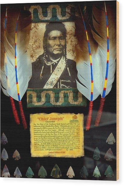Chief Joseph Wood Print