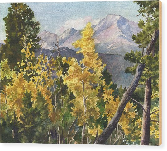 Chief's Head Mountain Wood Print