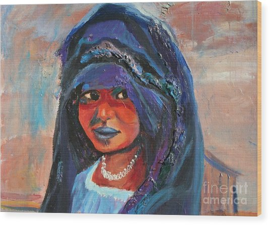 Child Bride Of The Sahara - Close Up Wood Print