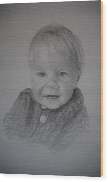 Child Portrait Wood Print
