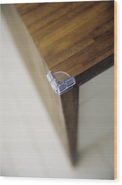 Child Safety: Corner Cushion Wood Print by Ian Boddy