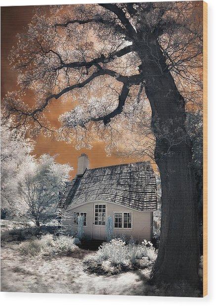 Children's Cottage Wood Print