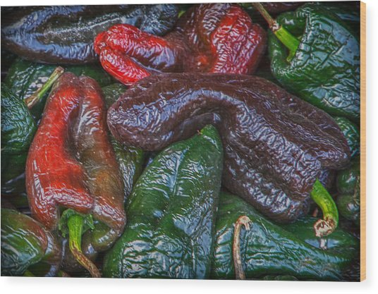 Chile Ancho Wood Print