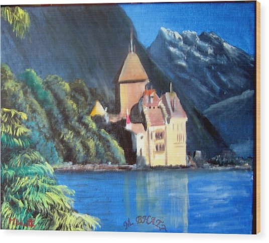 Chillon Castle Wood Print by M Bhatt