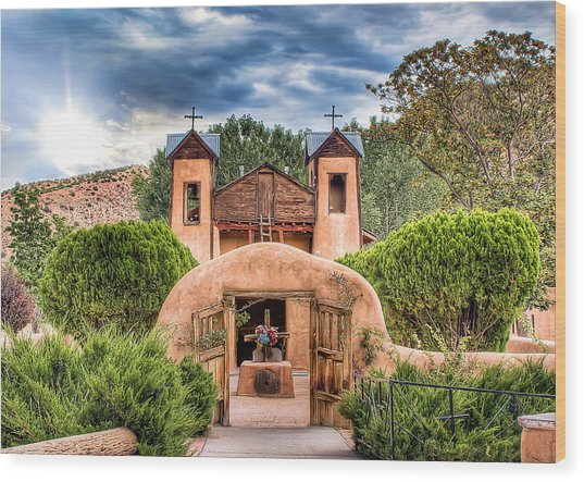 Chimayo Church Wood Print