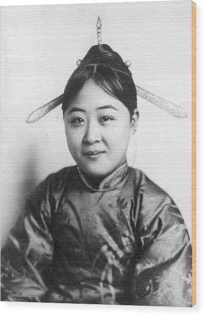 Chinese Girl Wood Print by General Photographic Agency