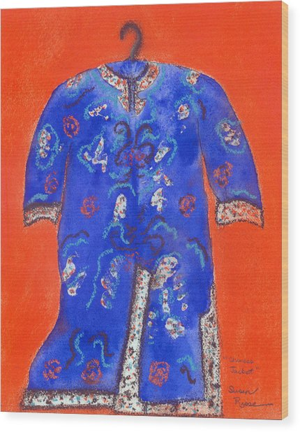 Chinese Jacket Wood Print by Susan Risse