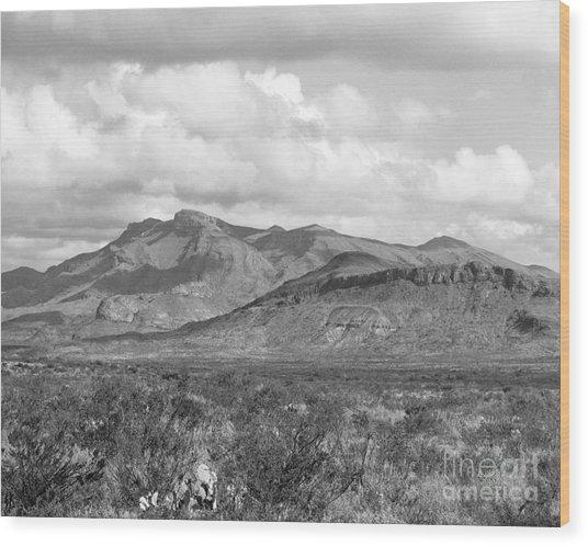 Chisos Mountain View Wood Print